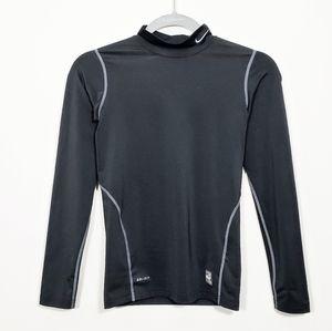 NIKE Pro Combat Dri Fit Youth Black Athletic Shirt
